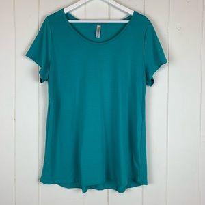 LuLaRoe Classic T Shirt XL Solid Turquoise Blue